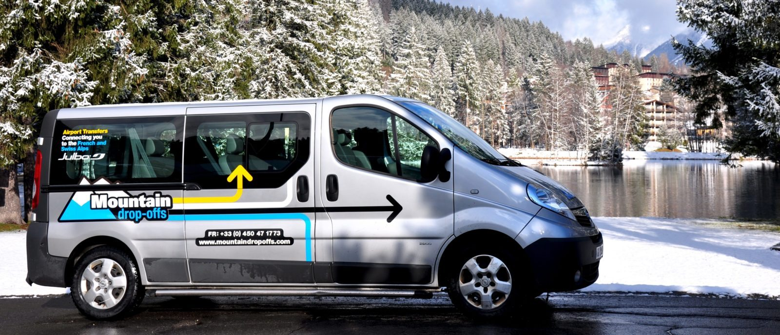 Navettes de l'aéroport de Genève, transport en minibus vers toutes les destinations des Alpes