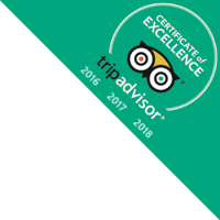 TripAdvisor Certificate of Excellence 2016, 2017, 2018