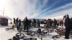 Transfer from skis to bike at Verbier's Snow Bike Day