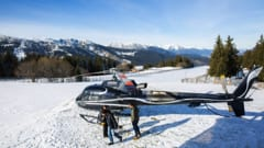 A transfer to Meribel's Altiport