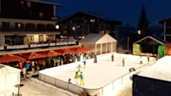 Silent ice disco at Verbier ice rink