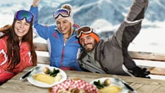 Eat raclette on the slopes of Verbier