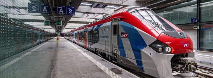 Leman Express trains in haute Savoie