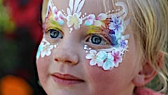 Argentiere face painting